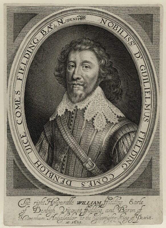 William Feilding, 1st Earl of Denbigh, by Robert van Voerst, published by  William Webb, mid 17th century - NPG D28208 - © National Portrait Gallery, London