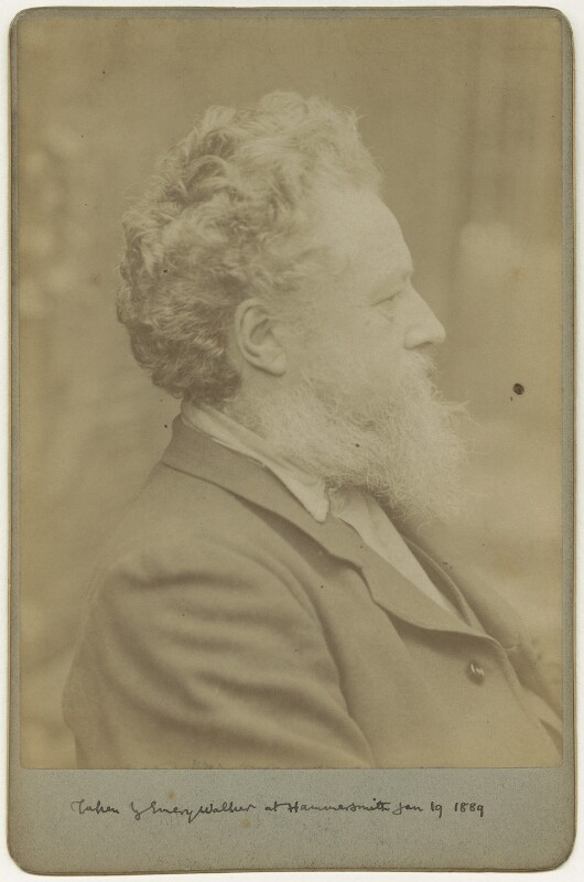 William Morris, by Sir Emery Walker, 19 January 1889 - NPG x3734 - © National Portrait Gallery, London