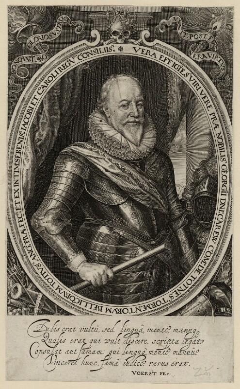 George Carew, Earl of Totnes, by Robert van Voerst, published 1633 - NPG D28234 - © National Portrait Gallery, London