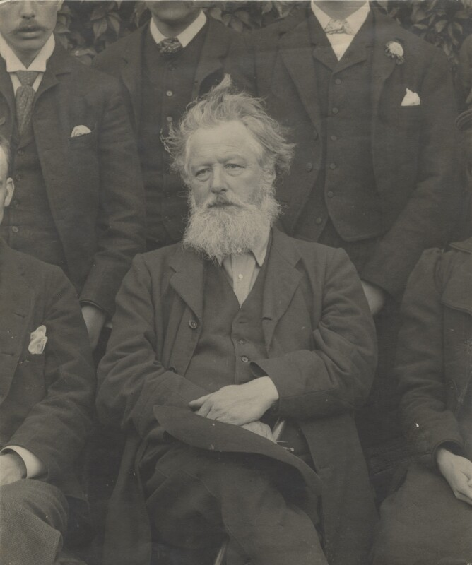 William Morris, by Unknown photographer, circa 1893 - NPG x3761 - © National Portrait Gallery, London
