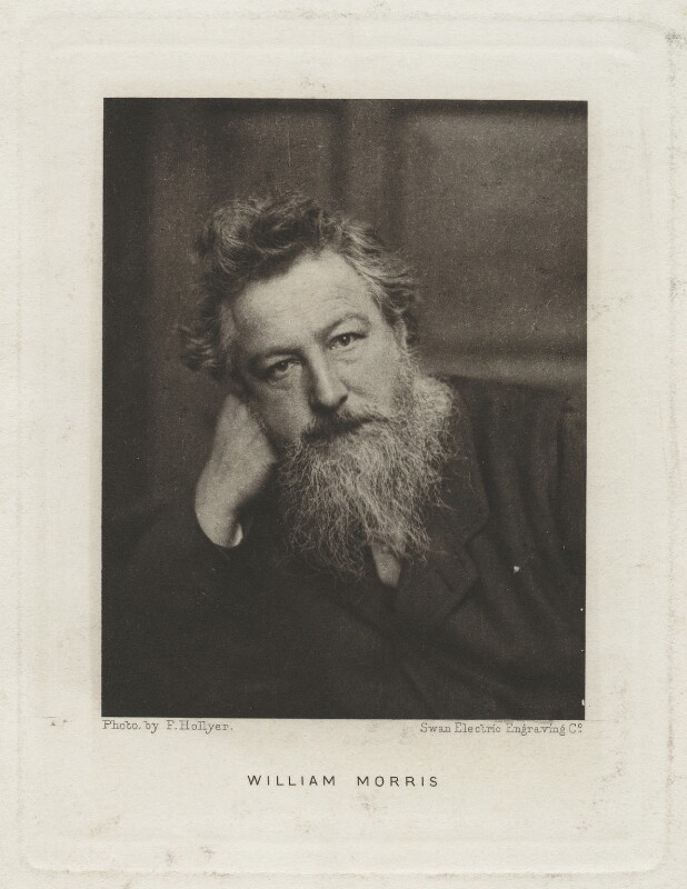 William Morris, by Swan Electric Engraving Co., after  Frederick Hollyer, (1884) - NPG x3760 - © National Portrait Gallery, London