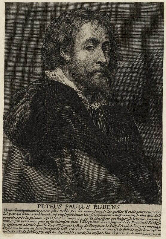 Sir Peter Paul Rubens, by Johannes Meyssens, after  Sir Peter Paul Rubens, mid 17th century - NPG D28249 - © National Portrait Gallery, London