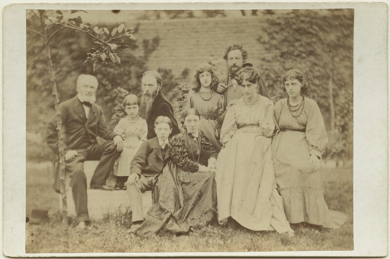 Sir Edward Burne-Jones and William Morris with their families, by Frederick Hollyer, 1874 - NPG x131265 - © National Portrait Gallery, London