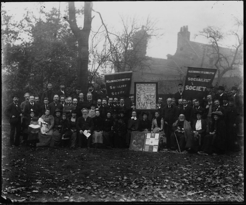 The Hammersmith Socialist Society, possibly by Sir Emery Walker, 1890-1891 - NPG x19650 - © National Portrait Gallery, London