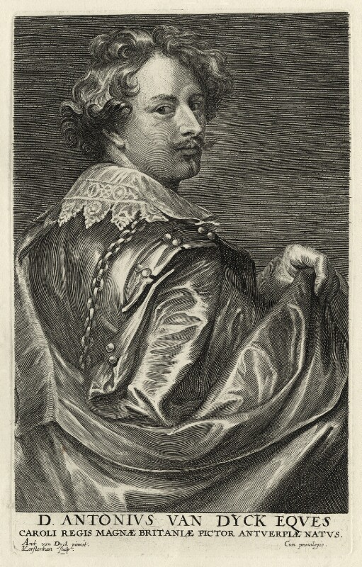 Sir Anthony van Dyck, by Lucas Vorsterman, after  Sir Anthony van Dyck, mid 17th century - NPG D28269 - © National Portrait Gallery, London