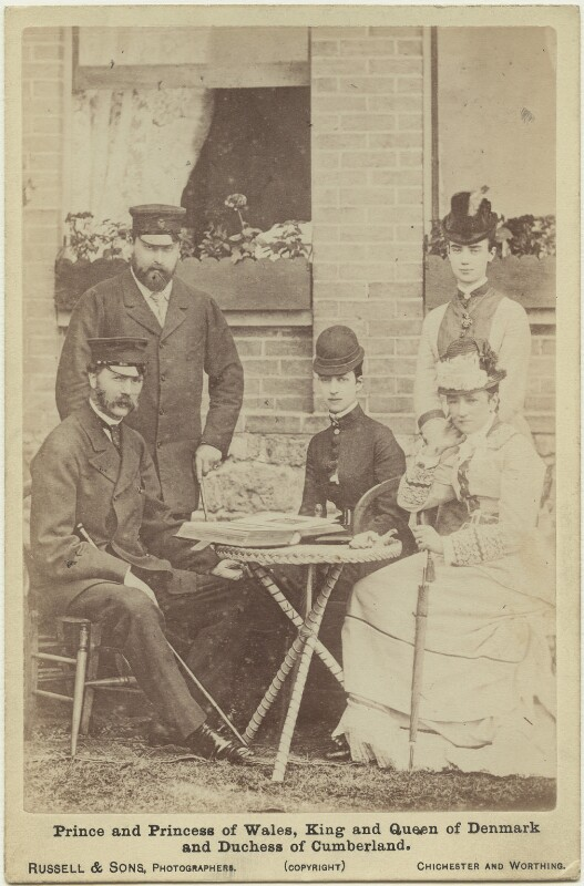 Royal family group, by James Russell & Sons, August 1876 - NPG x38388 - © National Portrait Gallery, London