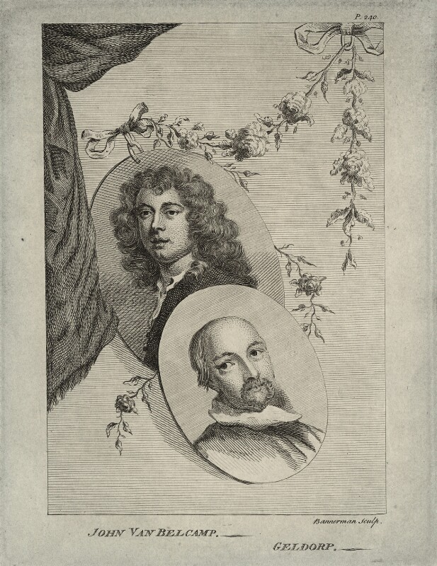 Jan van Belcamp and George Geldorp, by Alexander Bannerman, mid 18th century - NPG D28328 - © National Portrait Gallery, London