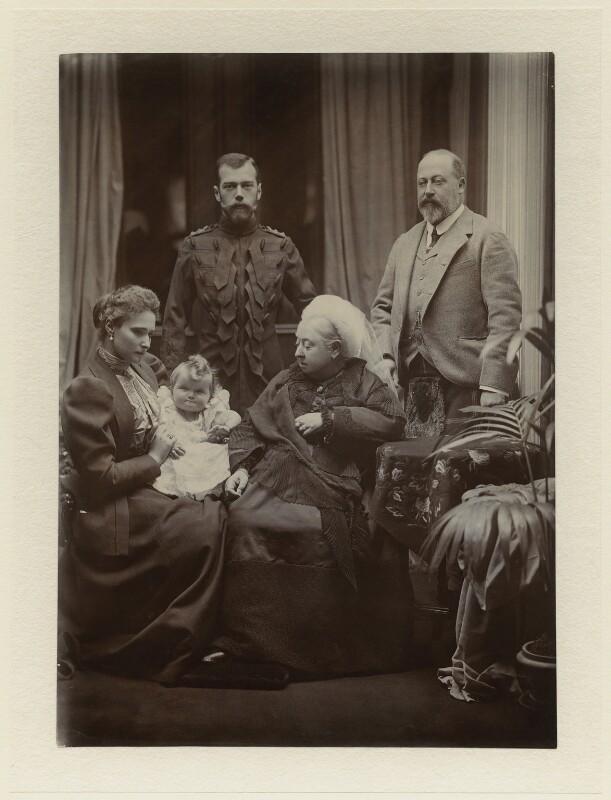 Royal family group, by Robert Milne, September 1896 - NPG x8482 - © National Portrait Gallery, London