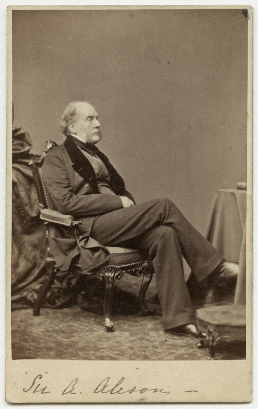 Sir Archibald Alison, 1st Bt, by William White, 1860s - NPG x42 - © National Portrait Gallery, London