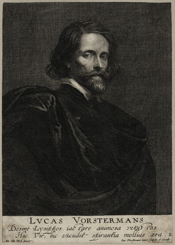 Lucas Vorsterman, by Lucas Vorsterman the Younger, after  Sir Anthony van Dyck, mid 17th century - NPG D28355 - © National Portrait Gallery, London