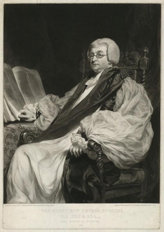 Thomas Burgess, by Samuel William Reynolds, after  William Owen, published 1820 - NPG D32411 - © National Portrait Gallery, London
