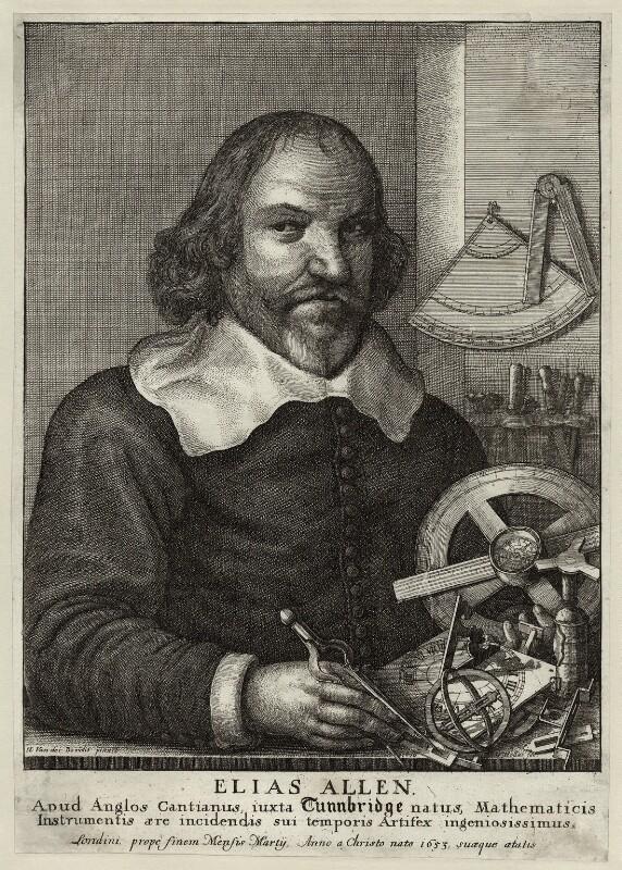 Elias Allen, by Wenceslaus Hollar, after  Hendrick van der Borcht the Younger, 1666 - NPG D28371 - © National Portrait Gallery, London