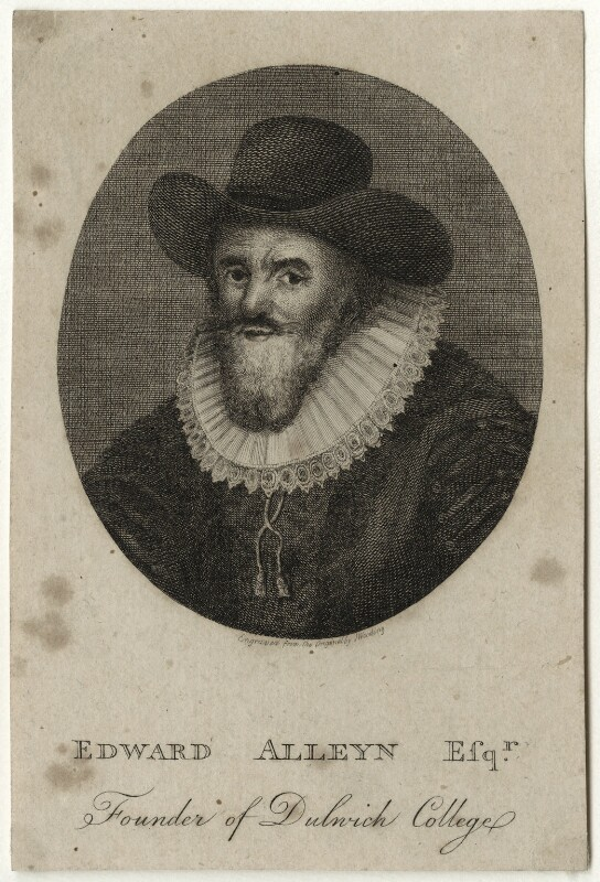 Edward Alleyn, after J. Wooding, late 18th to early 19th century - NPG D28389 - © National Portrait Gallery, London