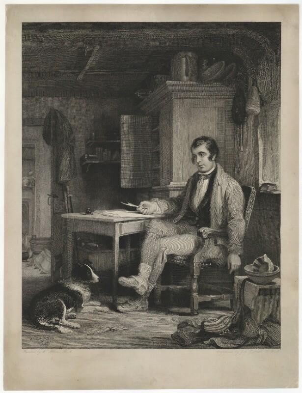 Fictitious portrait of Robert Burns, by John Burnet, after  Sir William Allan, circa 1838 - NPG D32438 - © National Portrait Gallery, London