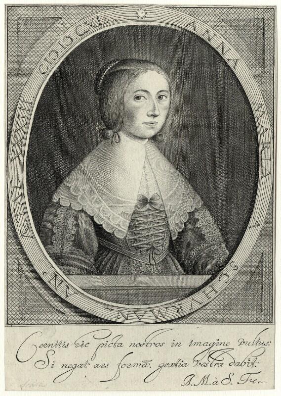 Anna Maria van Schurman, by Anna Maria van Schurman, 1640 - NPG D28458 - © National Portrait Gallery, London