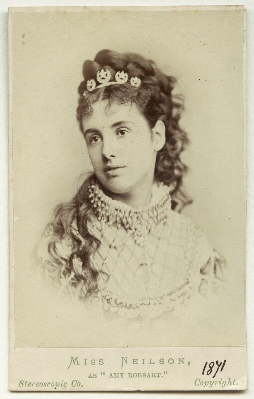 Adelaide Neilson as Amy Robsart in 'Kenilworth', by London Stereoscopic & Photographic Company, 1871 - NPG Ax18178 - © National Portrait Gallery, London
