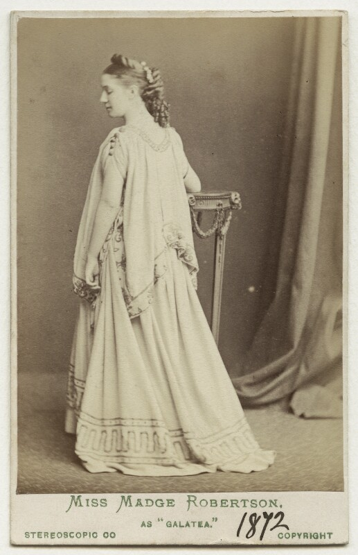 Madge Kendal as Galatea in 'Pygmalion and Galatea', by London Stereoscopic & Photographic Company, 1872 - NPG Ax18152 - © National Portrait Gallery, London