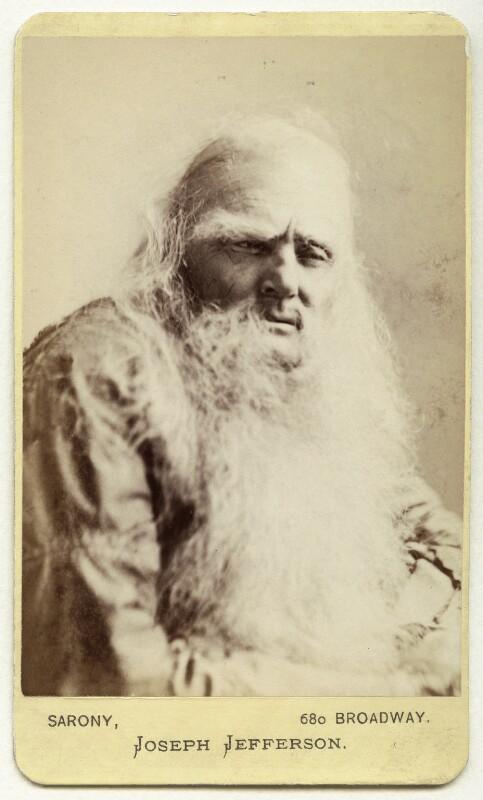 Joseph Jefferson as Rip van Winkle in 'Rip van Winkle', by Napoleon Sarony, 1870s (1869) - NPG Ax18186 - © National Portrait Gallery, London