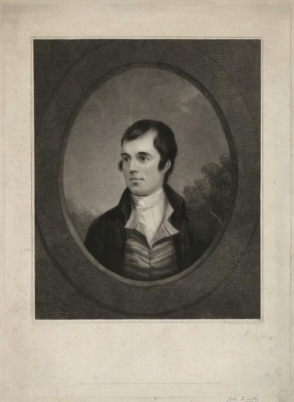 Robert Burns, by John Christian Zeitter, after  Alexander Nasmyth, published 1839 - NPG D32440 - © National Portrait Gallery, London