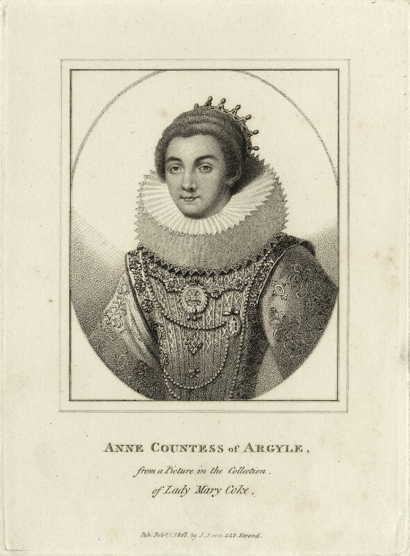 Anne Cornwallis, Countess of Argyll, published by John Scott, published 1 February 1807 - NPG D28475 - © National Portrait Gallery, London