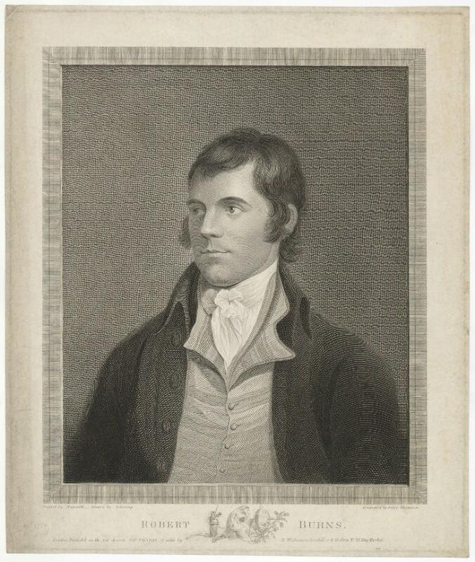 Robert Burns, by Paton Thomson, after  Alexander Nasmyth, published 1798 - NPG D32441 - © National Portrait Gallery, London