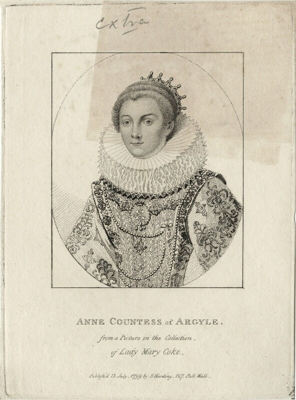Anne Cornwallis, Countess of Argyll, published by Silvester Harding, after  Unknown artist, published 1799 - NPG D28476 - © National Portrait Gallery, London