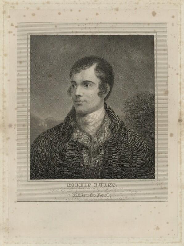 Robert Burns, by Edward Mitchell, after  Alexander Nasmyth, (1787) - NPG D32442 - © National Portrait Gallery, London