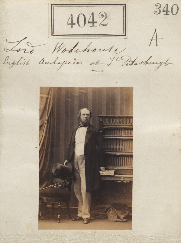 John Wodehouse, 1st Earl of Kimberley, by Camille Silvy, 31 May 1861 - NPG Ax54057 - © National Portrait Gallery, London