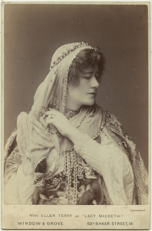 Ellen Terry as Lady Macbeth in 'Macbeth', by Window & Grove, 1888 - NPG x16980 - © National Portrait Gallery, London