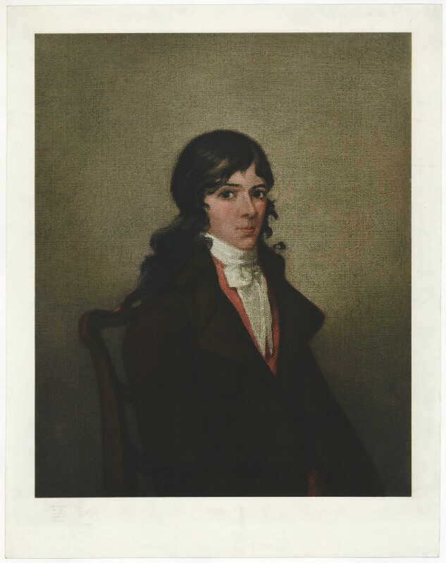Unknown man, formerly known as Robert Burns, by Unknown artist, early 20th century - NPG D32444 - © National Portrait Gallery, London