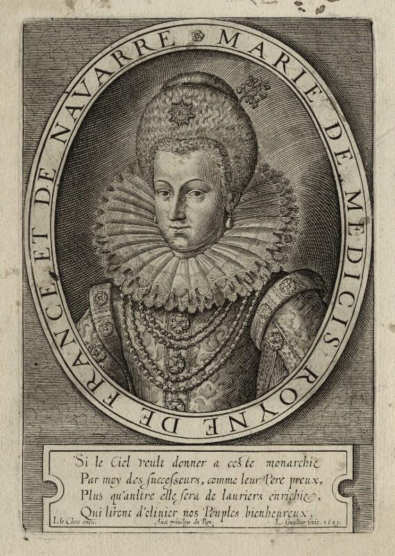 Marie de Medici of France, by Leonard Gaultier, 1601 - NPG D28548 - © National Portrait Gallery, London