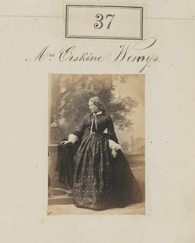 Millicent Ann Mary Wemyss (née Kennedy-Erskine), by Camille Silvy, 1860 - NPG Ax50029 - © National Portrait Gallery, London