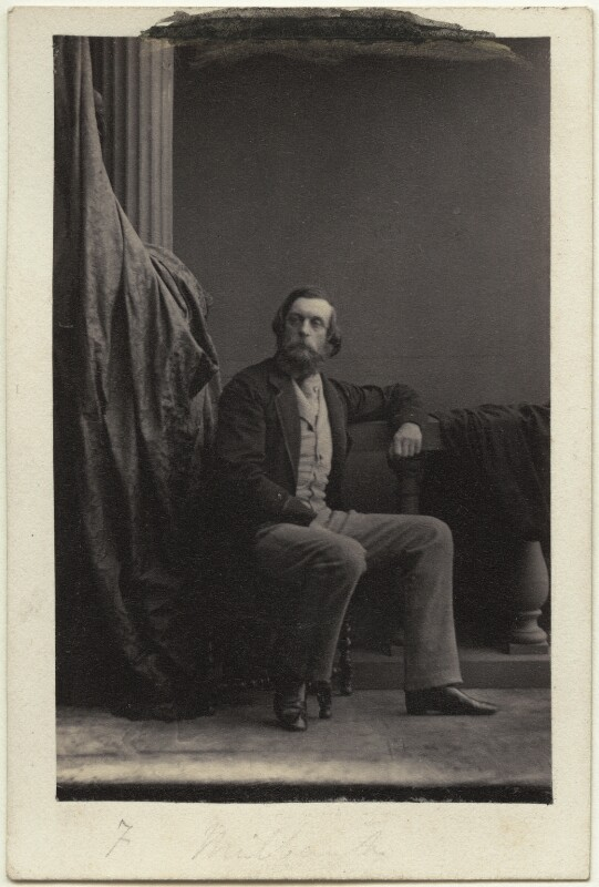 Sir Frederick Acclom Milbank, 1st Bt, by Camille Silvy, circa 1860 - NPG Ax77077 - © National Portrait Gallery, London