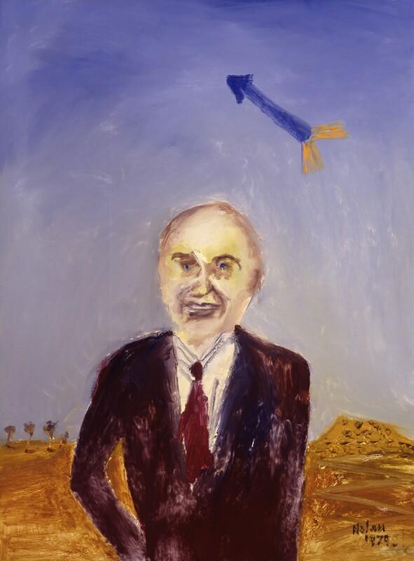 (George Edward) Peter Thorneycroft, Baron Thorneycroft, by Sir Sidney Robert Nolan, 1979 - NPG 6495 - © estate of Sir Sidney Robert Nolan