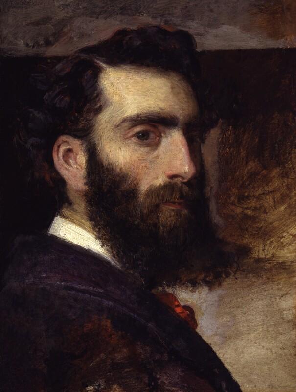 Philip Hermogenes Calderon, by Unknown artist, possibly by  Philip Hermogenes Calderon, 1860 - NPG 6498 - © National Portrait Gallery, London