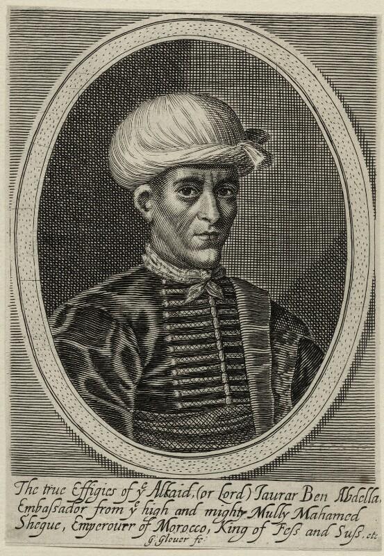 Jaurar Ben Abdallah, by George Glover, mid 17th century - NPG D28620 - © National Portrait Gallery, London