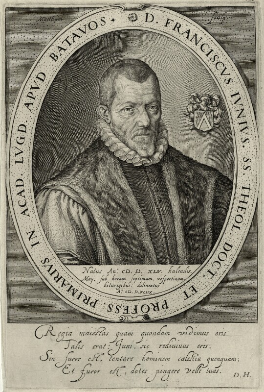 Franciscus Junius the Elder, by Theodor Matham, mid to late 17th century - NPG D28624 - © National Portrait Gallery, London