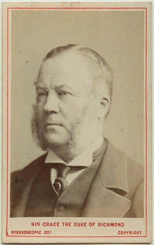 Charles Henry Gordon-Lennox, 6th Duke of Richmond, 6th Duke of Lennox and 1st Duke of Gordon, by London Stereoscopic & Photographic Company, 1873 - NPG Ax28461 - © National Portrait Gallery, London