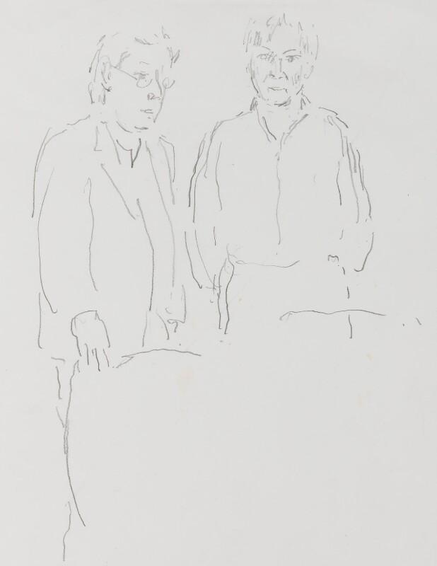Edward David Brynmor Jones; Jeremy Dixon, by John Lessore, 1999 - NPG 6501(3) - © National Portrait Gallery, London