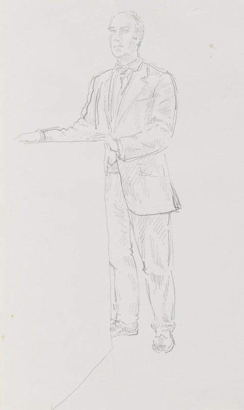 Sir Charles Robert Saumarez Smith, by John Lessore, 1999 - NPG 6501(4) - © National Portrait Gallery, London