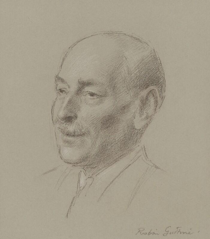 Clement Attlee, by Robin Craig Guthrie, 1950s? - NPG 6502 - © estate of Robin Craig Guthrie / National Portrait Gallery, London