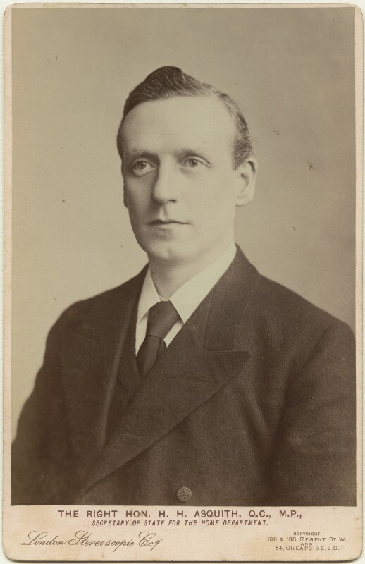 Herbert Henry Asquith, 1st Earl of Oxford and Asquith, by London Stereoscopic & Photographic Company, circa 1895 - NPG x12547 - © National Portrait Gallery, London