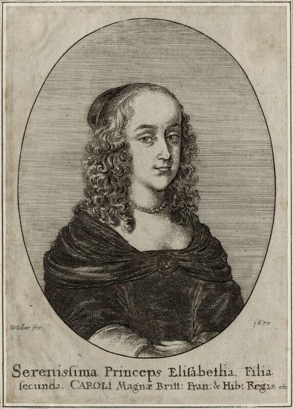 Princess Elizabeth, by Wenceslaus Hollar, 1650 - NPG D28651 - © National Portrait Gallery, London