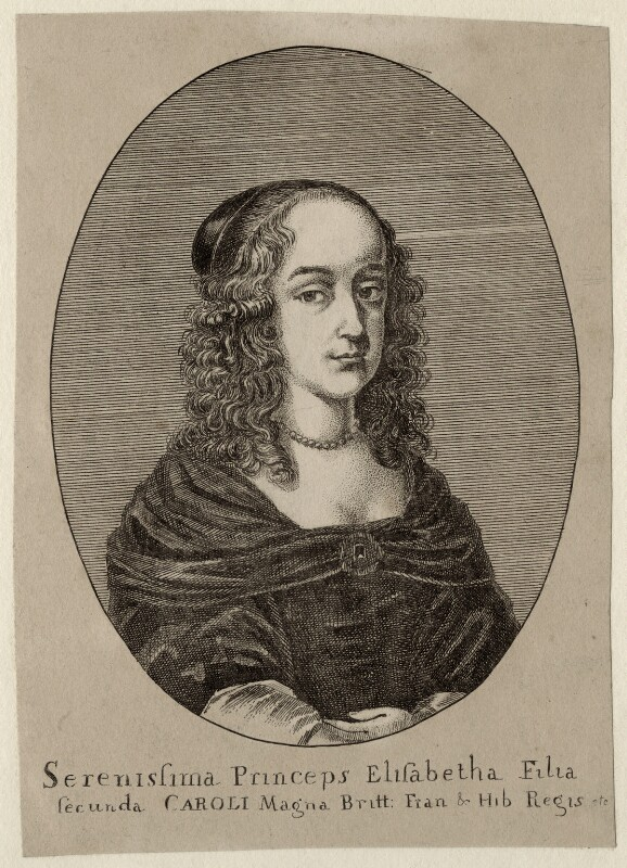 Princess Elizabeth, by Wenceslaus Hollar, 1650 - NPG D28652 - © National Portrait Gallery, London