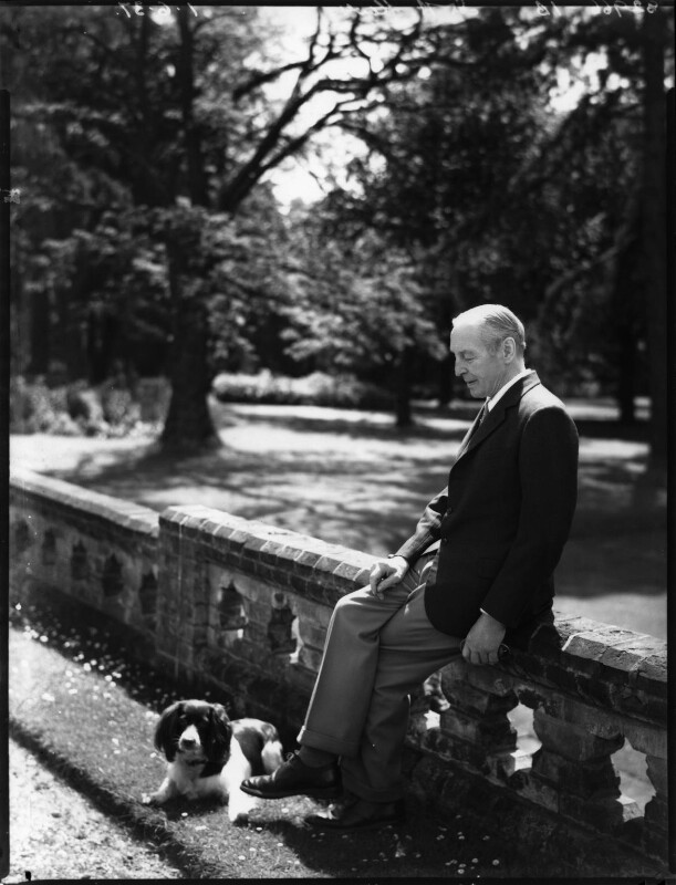 Sir Archibald Dennis Flower with Gipsy, by Bassano Ltd, 1 June 1937 - NPG x152485 - © National Portrait Gallery, London