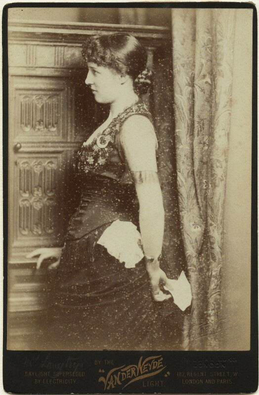 Lillie Langtry, by Henry Van der Weyde, 1881 - NPG x45211 - © National Portrait Gallery, London
