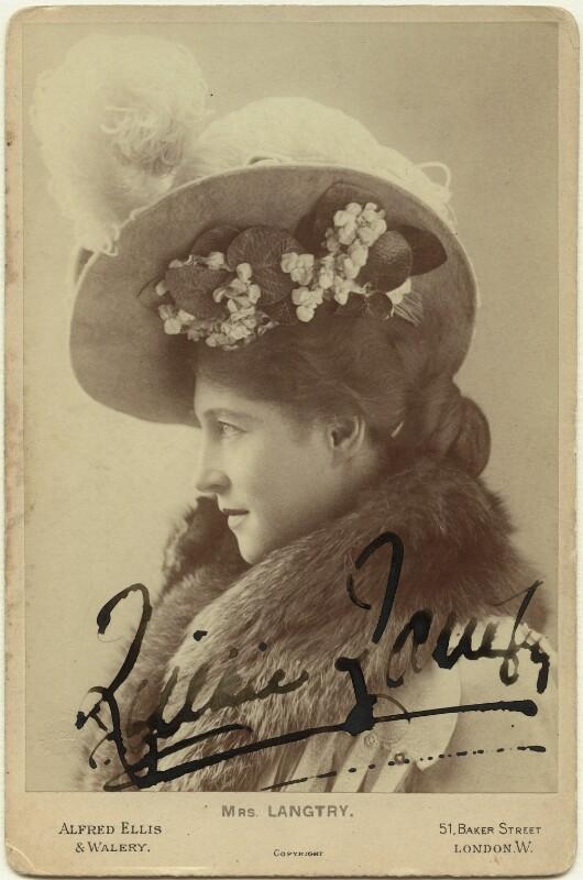 Lillie Langtry, by Alexander Corbett, for  Alfred Ellis & Walery, 1899-1900 - NPG x26373 - © National Portrait Gallery, London