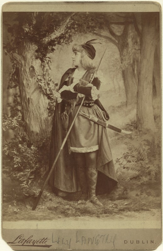 Lillie Langtry as Rosalind in 'As You Like It', by Lafayette, 1890 - NPG x46489 - © National Portrait Gallery, London