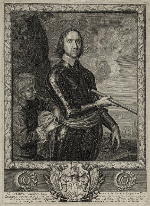 Oliver Cromwell, by Pierre Lombart, after  Robert Walker, published by  Thomas Hinde, mid 17th century - NPG D28668 - © National Portrait Gallery, London