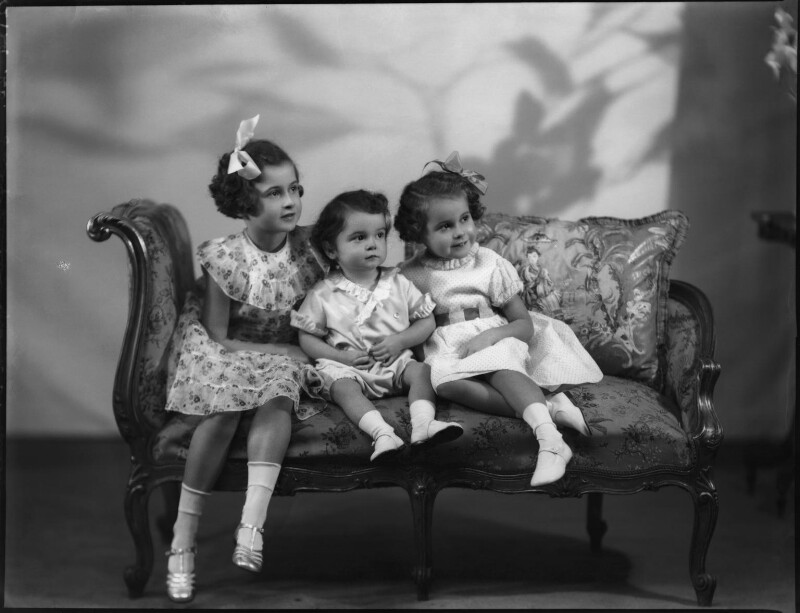 Lady Kinnoull's three children, by Bassano Ltd, 11 December 1936 - NPG x152494 - © National Portrait Gallery, London